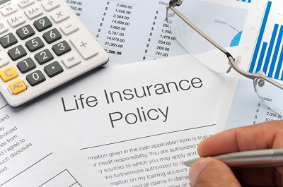 image of life insurance policy documents