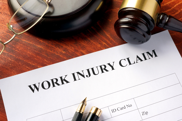 image of work injury claim form