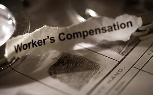 slip of paper with Workers Compensation typed on it